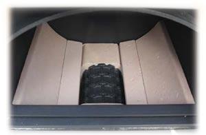 Внутренняя часть камеры сгорания пиролизных котлов ATMOS