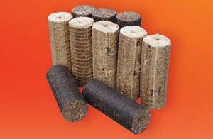 Деревянные брикеты для котлов ATMOS