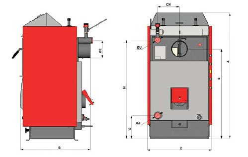 характеристики дровяного котла ATMOS D21